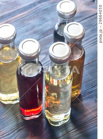 Bottles with different kinds of vinegar 29664050