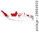 インドネシア 地図 国旗のイラスト 29664910