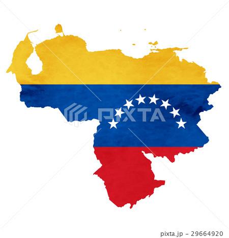 ベネズエラ 地図  国旗 アイコン のイラスト素材 [29664920] - PIXTA