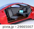 自動運転車のインテリアイメージ。オリジナルデザイン。 29665007