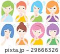 かゆい 女性 表情のイラスト 29666326