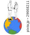 ビジネス 地球 グローバルのイラスト 29668211