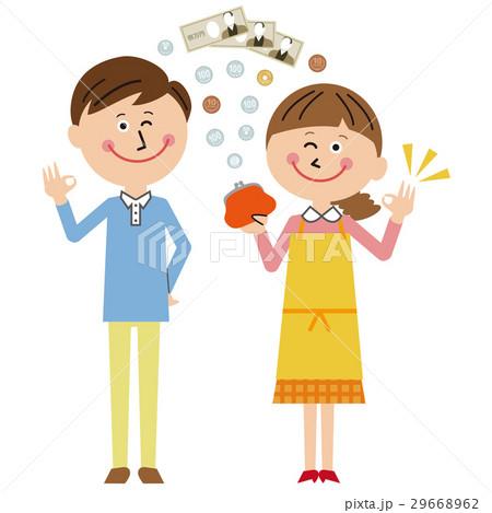 ポップな家族 ママとパパ お金OK 29668962