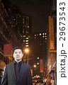 Asian man in chinatown at night 29673543