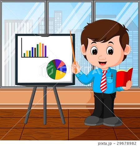 businessman presentation cartoonのイラスト素材 29678982 pixta