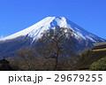 冬 忍野八海 富士山の写真 29679255