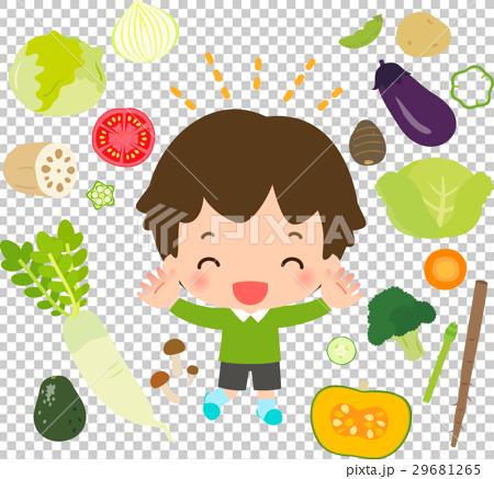 蔬菜 儿童 孩子 29681265