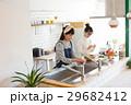 北欧女子 キッチン 料理 女性 友達 29682412