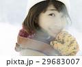 冬 雪 女性の写真 29683007