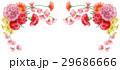 カーネーション 花束 フレームのイラスト 29686666