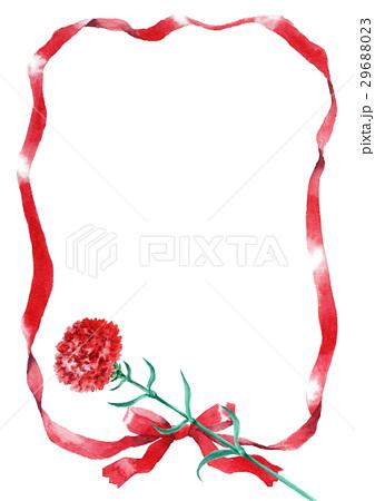 赤いリボンとカーネーション 29688023