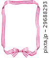 リボン フレーム 蝶結びのイラスト 29688293