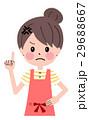 エプロン 女性 ベクターのイラスト 29688667