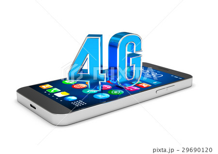 Smartphone with 4G communication technology. 29690120