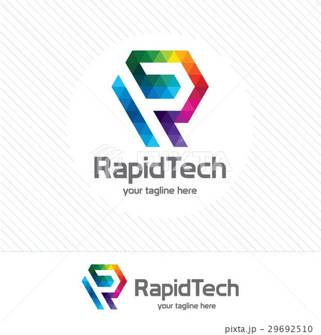 business corporate letter r logo design vector のイラスト素材