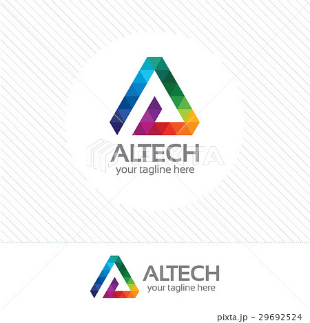 colorful pixel letter a logo vector template のイラスト素材