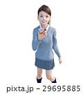 スマホを持つ女子高生 perming3DCG イラスト素材 29695885