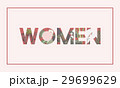 Woman word graphic with floral pattern 29699629