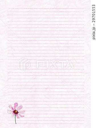 罫線付便箋 コスモスのイラスト素材 29701553 Pixta