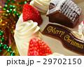クリスマスケーキのアップ 29702150