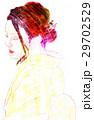 振り返る和服の女11 29702529