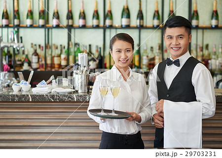 Restaurant waiters 29703231