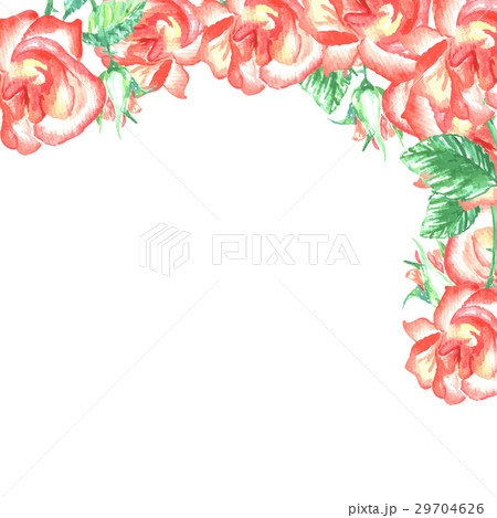 roses corner border for wedding designのイラスト素材 29704626 pixta