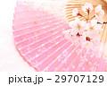 桜・扇子01 29707129