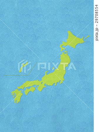 和紙の風合いを感じる日本地図 29708554
