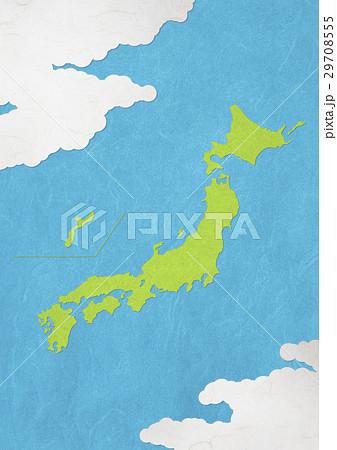 和紙の風合いを感じる日本地図 29708555