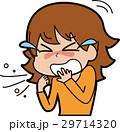 女性 人物 くしゃみのイラスト 29714320