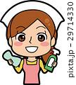 掃除を始める主婦のイラスト 29714330
