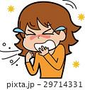花粉症 女性 人物のイラスト 29714331