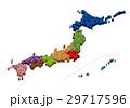 日本地図 立体 29717596