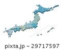 日本地図 立体 29717597