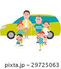 マイカーでお出かけする家族 29725063
