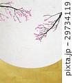 和を感じるイラスト(桜、和紙) 29734119