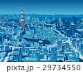東京の街並 俯瞰 夜景 29734550