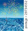 東京の街並 俯瞰 花火 29734552