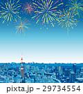 東京の街並 俯瞰 花火 29734554