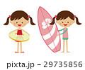女の子 子供 浮き輪のイラスト 29735856