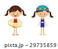 女の子 子供 夏のイラスト 29735859