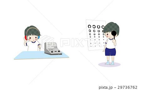 聴力検査 視力検査 男の子 29736762