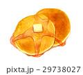 ホットケーキ パンケーキ はちみつのイラスト 29738027