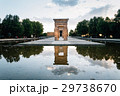 Sunset on Temple of Debod in Madrid 29738670