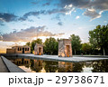 Sunset on Temple of Debod in Madrid 29738671