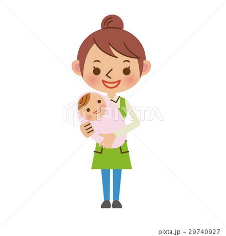 赤ちゃんを抱っこする保育士 29740927