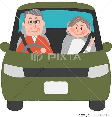 マイカーで出かける老夫婦 29742342