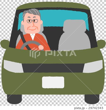 マイカーを運転する男性 29742343