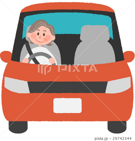 マイカーを運転する女性 29742344